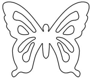бабочка для вырезания или раскраски
