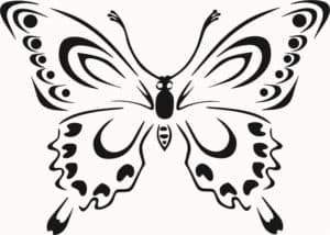 бабочка шаблон трафарет