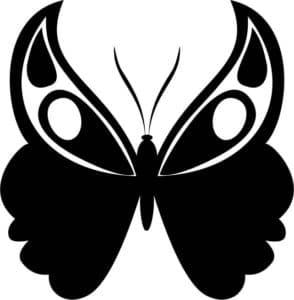 трафарет бабочки с усами
