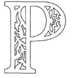 шаблон буква Р