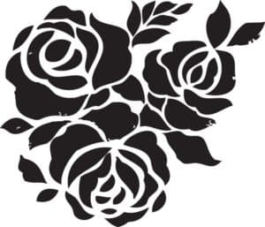 розы трафарет для вырезания