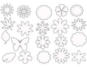 цветы и бабочки трафарет