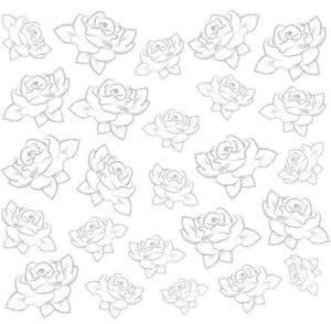 маленькие розы трафарет