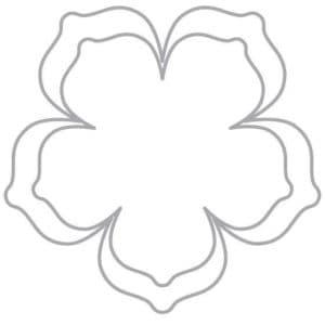 форма цветка шаблон