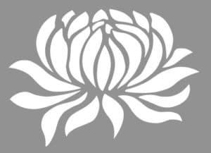 лилия трафарет