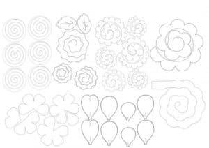 трафареты и шаблоны цветов