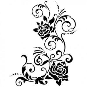 розы шаблон