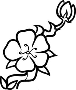 шаблон цветка с узором