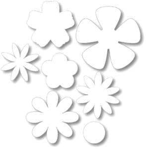 формы лепестков для вырезания