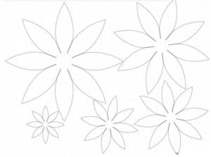 аленький цветочек трафарет