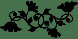узоры с цветами трафарет для вырезания