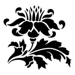 цветок с узорами трафарет