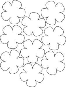 полянка цветов шаблон