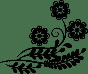 три цветочка для вырезания