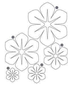 трафарет пять цветов
