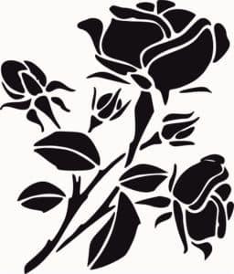 розы и жук трафарет