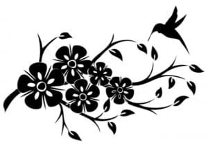 красивые цветы трафарет