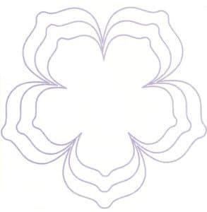 большой цветок трафарет