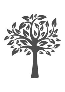 шикарное дерево трафарет