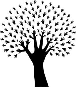 дерево с ручками