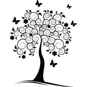 дерево с узорами