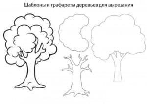 шаблоны и трафареты деревьев для вырезания