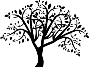 густое дерево трафарет