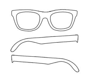 трафарет очки для 3д ручки