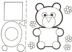 трафарет медвежонка для аппликаций