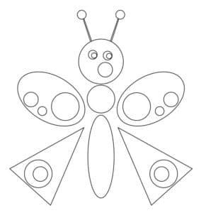 трафарет бабочка для аппликаций