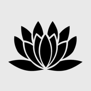 трафарет лилия