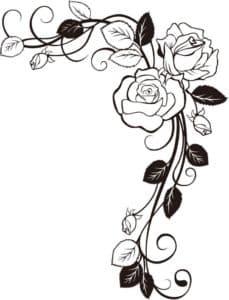 красивые розы трафарет