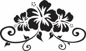 трафарет цветочки и узоры