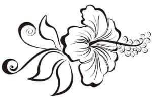 цветок трафарет красивый