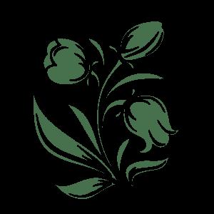 трафарет цветочки