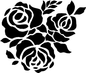 три розы трафарет для вырезания