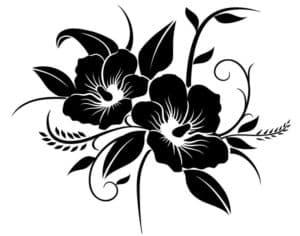 китайская роза трафарет