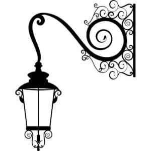 фонарь трафарет для стены