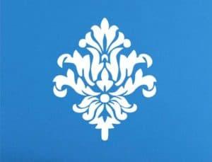 узоры на синем фоне