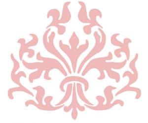 розовые узоры трафарет для стен