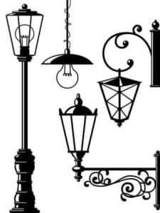 фонари трафарет для стен