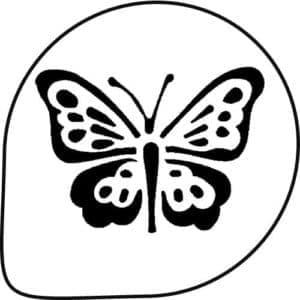 бабочка для вырезания