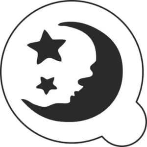 луна и звезды для вырезания