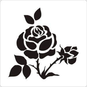 трафарет роза