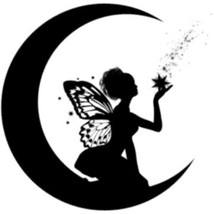 трафарет фея на луне