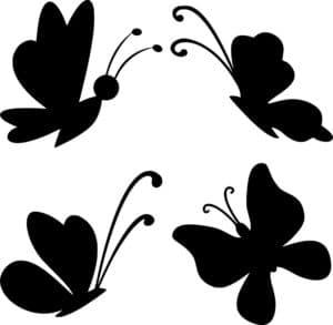 бабочки трафарет для вырезания