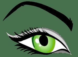 зеленый глаз трафарет