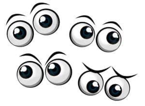 глаза трафарет