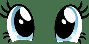 большие голубые глаза трафарет