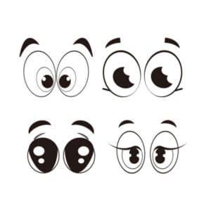 шаблон трафарет глаза
